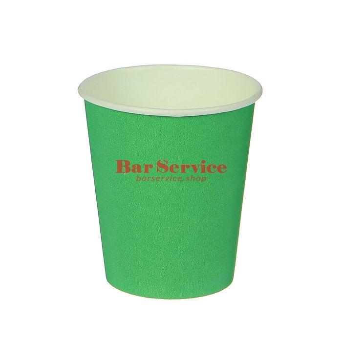 Стакан бумажный 250мл 50 шт. зеленый в Твери